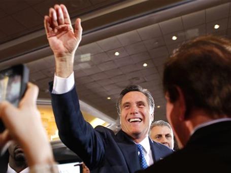 Митт Ромни в кругу сторонников в Бостоне, штат Массачусетс, где он был губернатором. Фото: АР