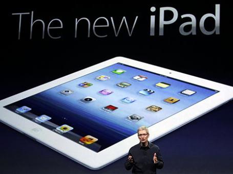 Глава Apple Тим Кук представляет новый iPad. Фото: АР