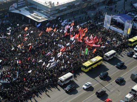 По разным данным, митинг на Новом Арбате собрал от 10 до 25 тысяч человек Фото: РИА Новости