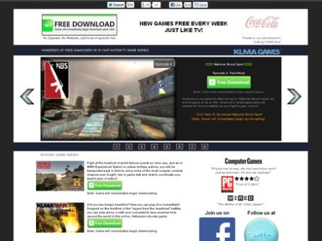 Фото экрана сайта kumagames.com