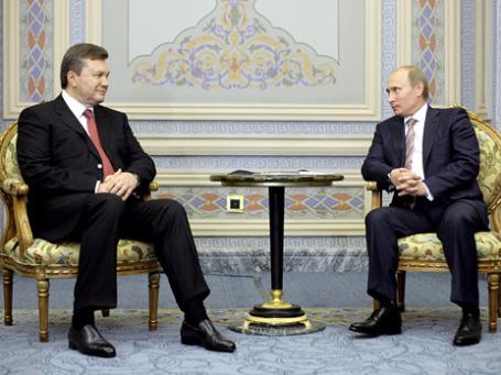 Президент Украины Виктор Янукович на встрече с премьером России Владимиром Путиным. Фото: РИА Новости