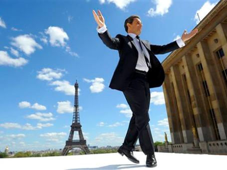 Николя Саркози на первомайском митинге сторонников в Париже, собравшем 200 тысяч человек. Фото: АР