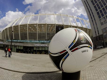 Футбольный стадион в Киеве, где должны пройти матчи Евро-2012. Фото: ИТАР-ТАСС