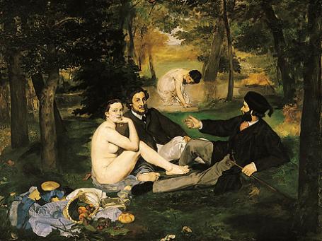 Картина Эдуарда Мане «Завтрак на траве». 1863 год