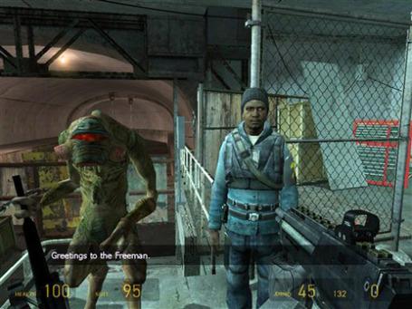 Эпизод из игры «Half-Life 2», которая была выпущена компанией Valve Corp. Фото: AP
