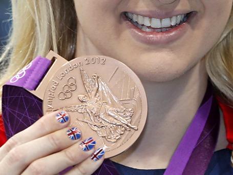 Британские олимпийцы не получают премию за медали. «Золотые» призеры могут надеяться на выпуск почтовых марок с их портретом и вознаграждение в 10 тысяч фунтов. Фото: ИТАР-ТАСС
