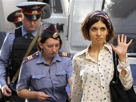 Надежда Толоконникова, одна из обвиняемых по делу Pussy Riot. Фото: АР