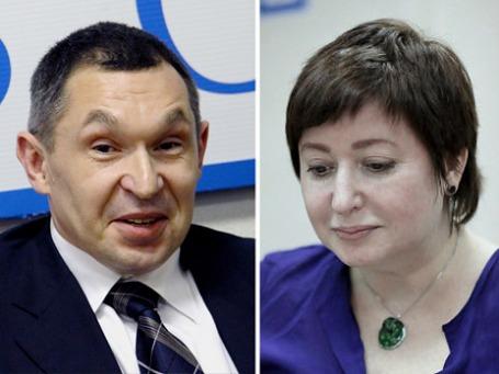Владимир Переверзин и Ольга Романова. Фото: ИТАР-ТАСС, РИА Новости