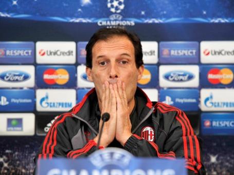 Массимилиано Аллегри признал, что «Милан» загнан в угол и ему нужна только победа. Фото: РИА Новости