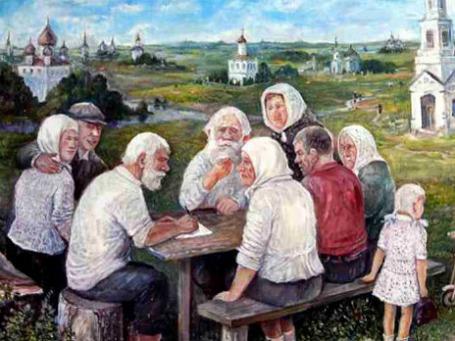 Картина художника Леонида Баранова «Письмо Путину»