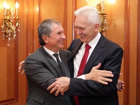 Встреча Игоря Сечина с Геннадием Тимченко. Фото: ИТАР-ТАСС