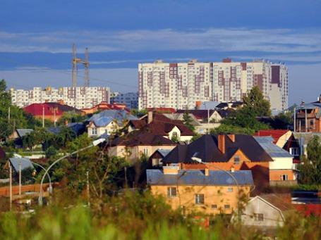 Новая Москва. Вид на деревню Десна и жилищный комплекс «Новые Ватутинки». Фото: РИА Новости