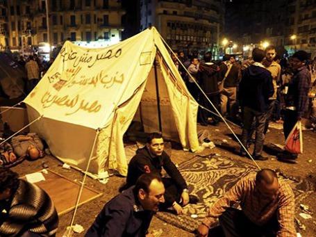 Демонстранты на площади Тахрир в Каире. Фото: АР