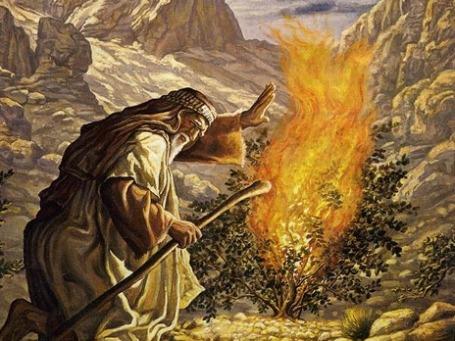 Фрагмент картины «Моисей у неопалимой купины»