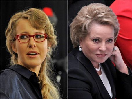 Ксения Собчак и Валентина Матвиенко. Фото: РИА Новости