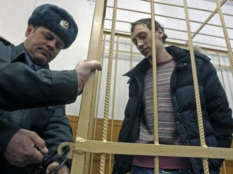 Солист Большого театра Павел Дмитриченко в зале Таганского районного суда . Фото: Reuters