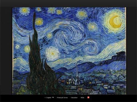 «Звездная ночь» Ван Гога на сайте Арт-проекта Google.
