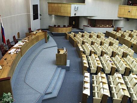 Зал заседаний Государственой думы РФ. Сегодня премьер Дмитрий Медведев отчитается перед парламентом. Фото: РИА Новости