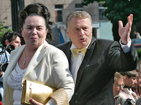 Лидер ЛДПР Владимир Жириновский с супругой Галиной Лебедевой . Фото: РИА Новости
