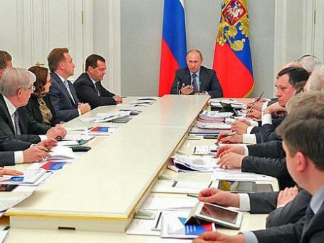 Совещание по экономическим вопросам в государственной резиденции «Бочаров ручей» в Сочи. Фото пресс-службы президента России