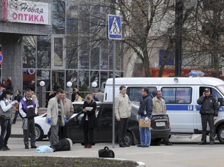 Центр Белгорода, где произошла стрельба. Фото: Reuters