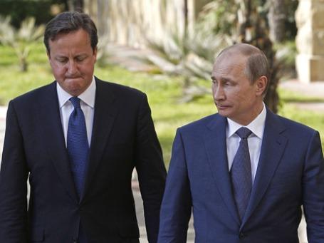 Встреча российского президента Владимира Путина с премьер-министром Великобритании Дэвидом Кэмероном в Сочи. Фото: Reuters