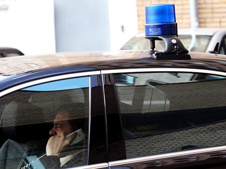 Автомобиль со спецсигналами на улицах Москвы. Фото: РИА Новости