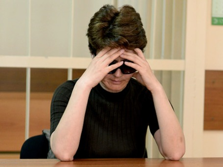 Старший вице-президент КБ «Росбанк» Тамара Поляницына, подозреваемая в посредничестве при совершении коммерческого подкупа в особо крупном размере. Фото: РИА Новости