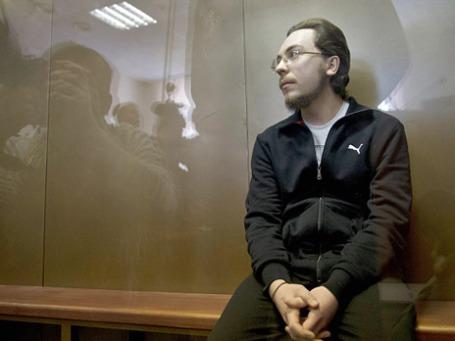 Иеромонах Илия (Павел Семин), обвиняемый в совершении ДТП на Кутузовском проспекте в ночь на 16 августа 2012 года, в котором погибли два человека, на судебном заседании в Дорогомиловском суде Москвы. Фото: РИА Новости