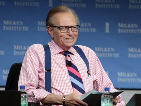 Американский тележурналист Ларри Кинг. Фото: Reuters