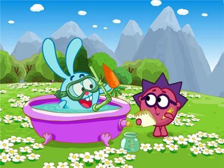 Кадр из мультипликационного сериала «Смешарики».