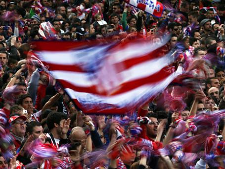 Фанаты ФК «Атлетико Мадрид». Фото: Reuters