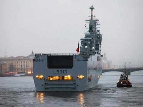 Французский военный корабль-вертолетоносец класса «Мистраль». Фото: РИА Новости