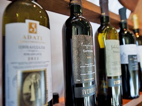 Продукция производителей грузинских вин. Фото: РИА Новости