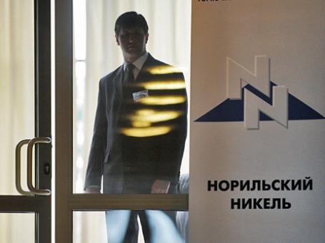 Логотип ОАО «ГМК «Норильский никель». Фото: РИА Новости