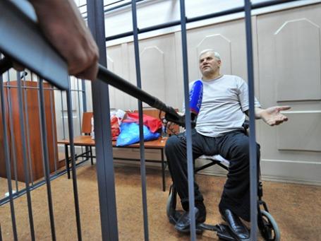 Арестованный по делу об убийстве следователя мэр Махачкалы Саид Амиров в зале заседаний Басманного суда. Фото: РИА Новости