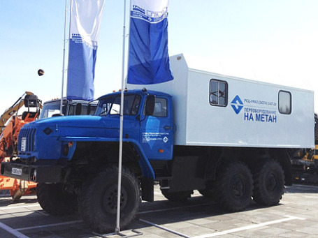 Автомобиль Урал на газовом топливе. Фото предоставлено пресс-службой «Группы ГАЗ»