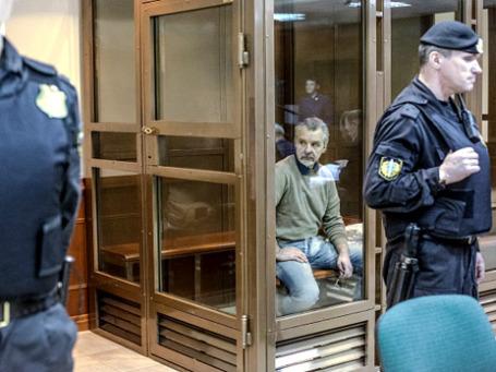 Фигурант так называемого «игорного дела» экс-зампрокурора Подмосковья Александр Игнатенко на заседании Мосгорсуда. Фото: РИА Новости