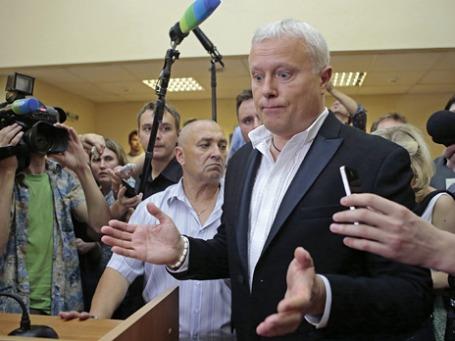 Александр Лебедев в Останкинском суде Москвы. Фото: Reuters