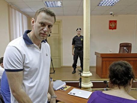 Алексей Навальный в Кировском суде. Фото: Reuters