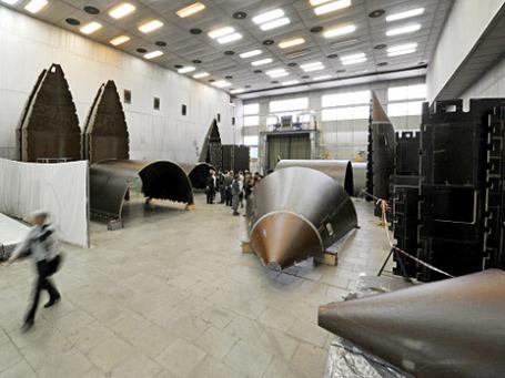 Склад готовых деталей корпусов ракет на Обнинском научно-производственном предприятии «Технология». Фото: РИА Новости
