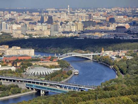 Вид сверху на Воробьевы горы. Фото: РИА Новости