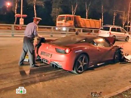 Автомобиль Лариона Вуокилы. Кадр из программы телеканала НТВ.