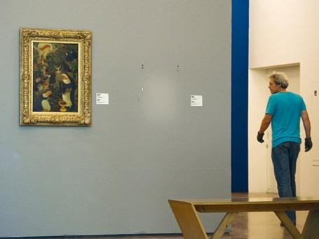 Пустое место в галерее Kunsthal  в Роттердаме, где висела похищенная в октябре 2012 года картина Анри Матисса. Фото: Reuters