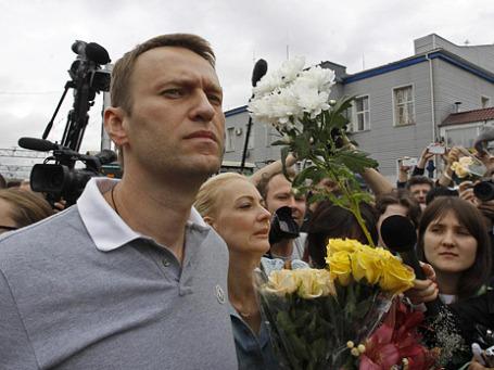 Кандидат в мэры Москвы, оппозиционер Алексей Навальный. Фото: Reuters
