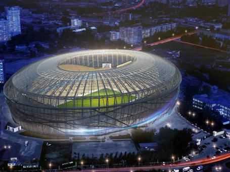 Проект реконструкции одного из стадионов Чемпионата мира по футболу 2018 в Екатеринбурге. Фото: Департамент архитектуры Екатеринбурга