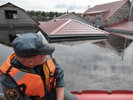 Затопленные дома в Амурской области. Фото: РИА Новости