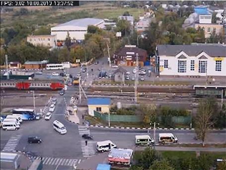 Авария в Щербинке. Фото экрана сайта youtube.com