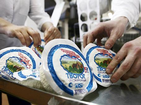 Производство творога на Городском молочном заводе №1 в Минске. Фото: ИТАР-ТАСС