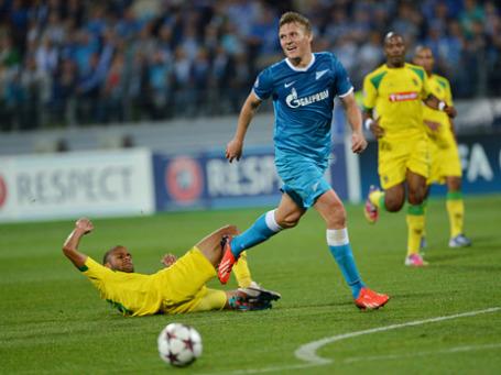 Игрок «Зенита» Александр Бухаров. Фото: РИА Новости